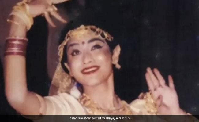 A Rare Pic Of Actress Shriya Saran Dancing At Her School's Annual Day