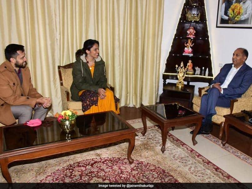 Saina Nehwal, Parupalli Kashyap Meet Himachal Pradesh CM Jai Ram Thakur