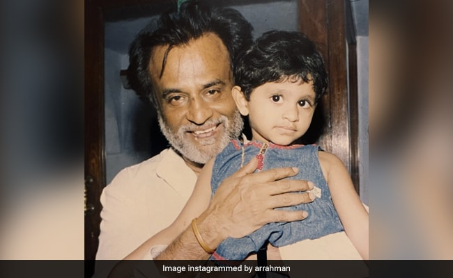 This Pic Of Rajinikanth With A 'Little Princess' Has An A R Rahman Connection
