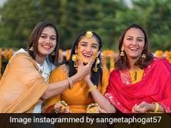 A Few Glimpses From Sangeeta Phogat's <i>Haldi</i> Ceremony