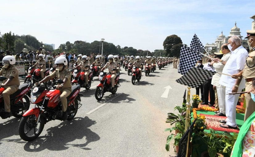 The Hero Glamour for Karnataka Police was flagged off by state Chief Minister BS Yediyurappa
