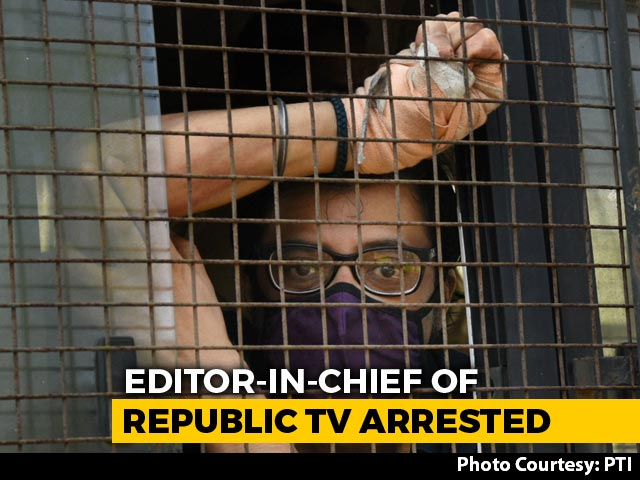 Video : TV Anchor Arnab Goswami Arrested, Sent To Judicial Custody For 2 Weeks