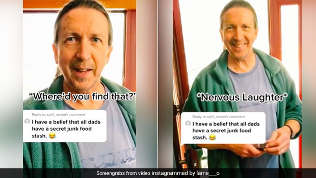 Son Discovers Dad's Secret Food Stash. Reaction Too Hilarious To Miss