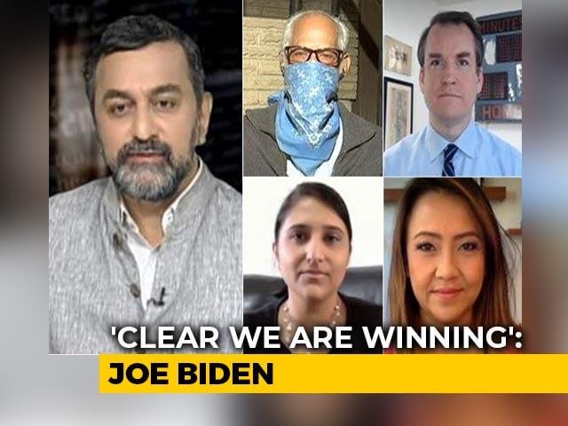 Video : As Joe Biden Nears Finish Line, US Presidential Race On Razor's Edge