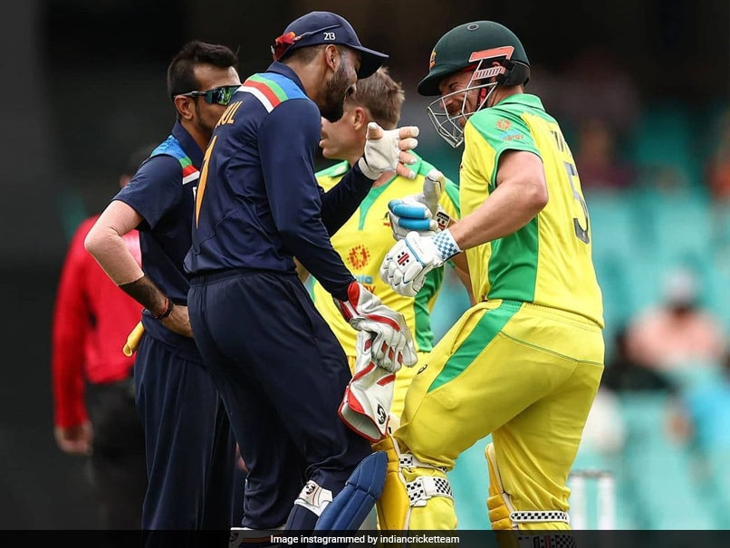2nd ODI: Aaron Finch, KL Rahul Engage In Friendly Glove Fight In Sydney. Watch