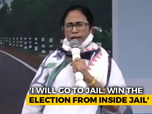 "Video : ""They (BJP) Can Arrest Me, I'll Win From Jail"": Mamata Banerjee's Dare"