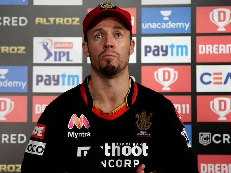 """RCB vs SRH: AB De Villiers Says """"Terrible Feeling"""" To Lose 3 Consecutive Matches"""