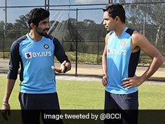 Australia Vs India: Jasprit Bumrah Guides Young Pacer Kartik Tyagi In Sydney. See Pictures