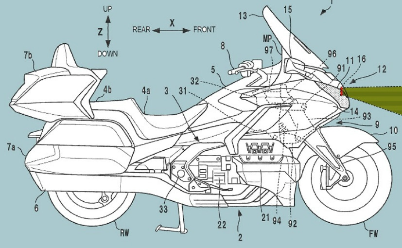 Honda has filed patents showing radar-assisted technology for a future Gold Wing