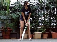 Trending: Pics Of Malaika Arora Playing Cricket With Son Arhaan