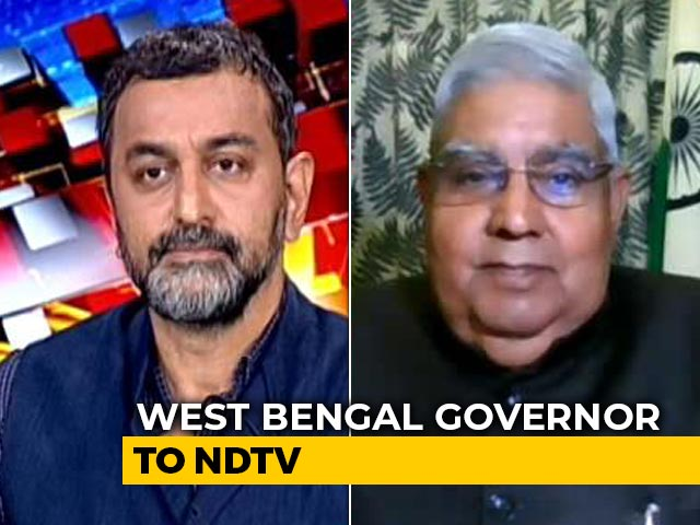 Video : Political Violence Rising, No Space For Opposition: Bengal Governor