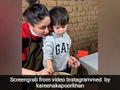 करीना कपूर के साथ चाक पर मिट्टी के बर्तन बनाते नजर आए तैमूर अली खान, Video हुआ वायरल