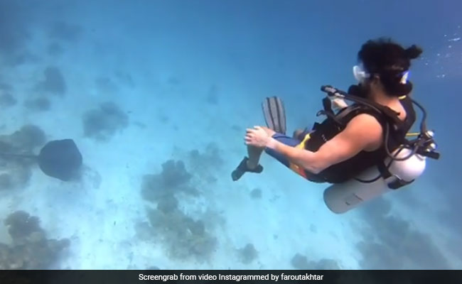 Into The Blue: Farhan Akhtar's Scuba Diving Video From Maldives