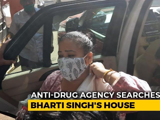 Video : Comedian Bharti Singh Being Questioned By Anti-Drugs Agency After Raid