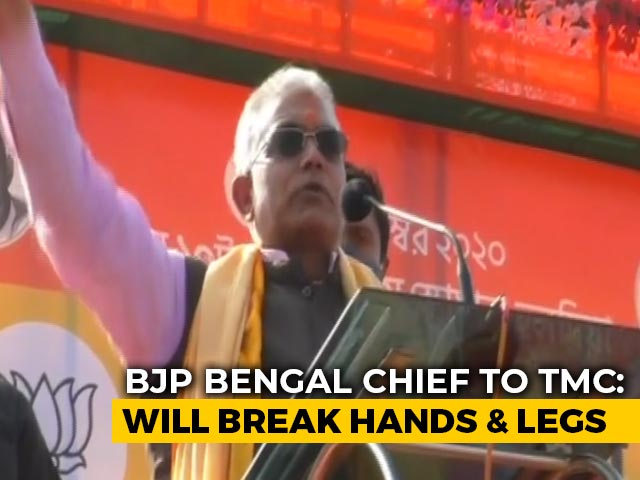 Video: On Camera, Bengal BJP Chief's 'Broken Limbs, Death' Threat At Rally