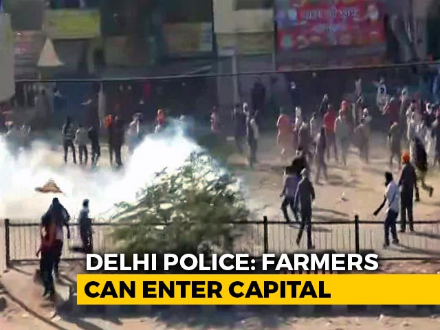 Video : Farmers Told They Can Enter Delhi But Tear-Gassing Continues