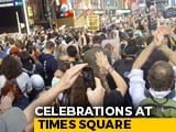 "Video : ""Democracy Works"": US Celebrates Joe Biden's Win At Times Square"