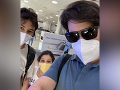 """""""Life's Back On Track"""": Mahesh Babu Shares Pic With Son Gautham And Daughter Sitara From Airport"""