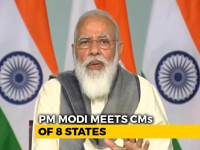 Video : Increase Testing, PM Tells Chief Ministers Of 8 States At Meet