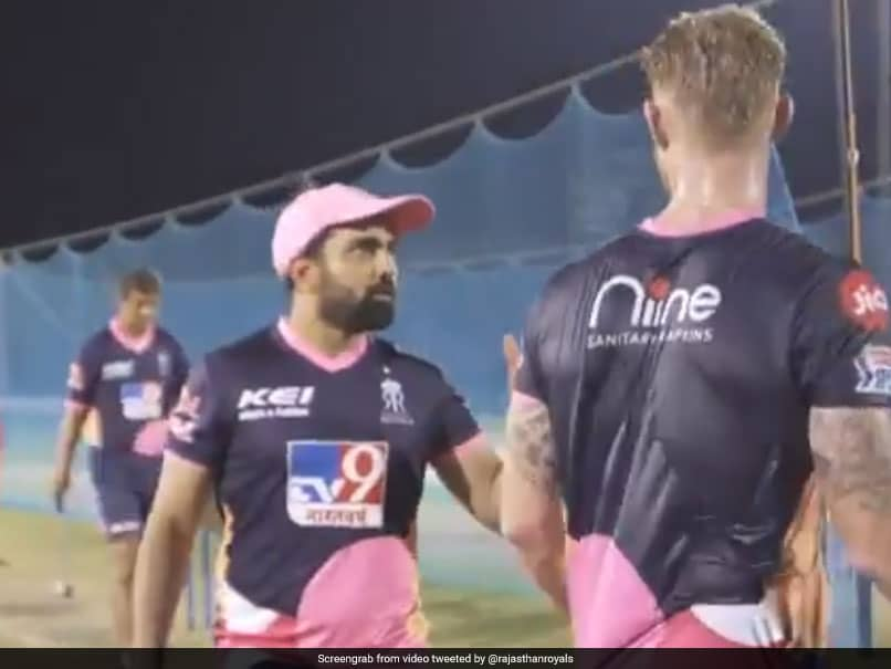 "Rajasthan Royals Fielding Coach Takes On ""Off-Spinner"" Ben Stokes In Sixes Challenge. Watch Who Wins"