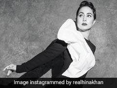 हिना खान ने ब्लैक एंड व्हाइट स्लिट ड्रेस में कराया फोटोशूट, Photos में दिखा एक्ट्रेस का ग्लैमरस अंदाज