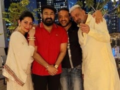 Trending: Pics Of Mohanlal Celebrating Diwali With Sanjay Dutt And Maanayata In Dubai