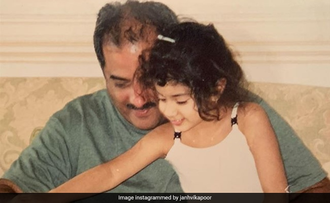 Janhvi's Birthday Wish For Dad Boney Kapoor Is A Throwback Treat