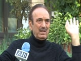 "Video : ""Our Party's Structure Has Collapsed,"" Says Congress's Ghulam Nabi Azad"