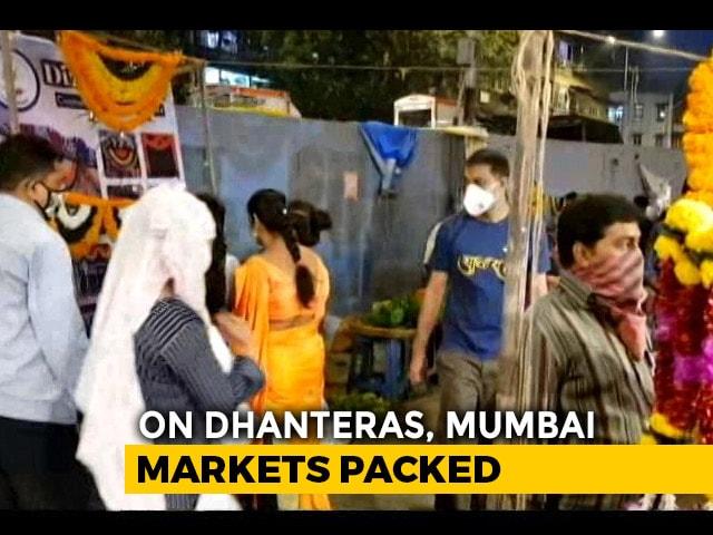 Video : On Dhanteras, Mumbai Markets Packed