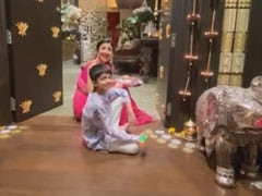 "Diwali 2020: The ""Solemn Annual Tradition"" That Kept Shilpa Shetty And Son Viaan Busy"
