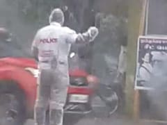 Cop Managed Traffic In Heavy Rain For 4 Hours, Then Got A Surprise. Watch