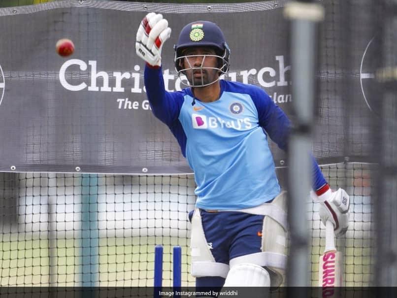 استرالیا در مقابل هند: Wrididdan Saha با یک جلسه خالص برای آزمایش در استرالیا گرم می شود.  تماشا کردن