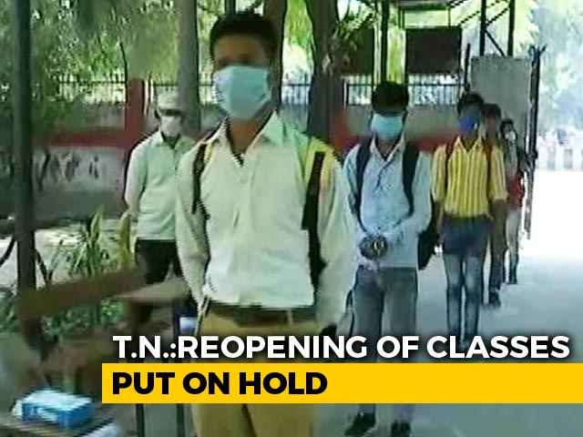 Video : Tamil Nadu Holds Off On Reopening Schools For Classes 9-12 Next Week