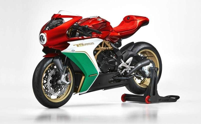 The 75 special anniversary edition MV Agusta bikes were sold out online in seconds