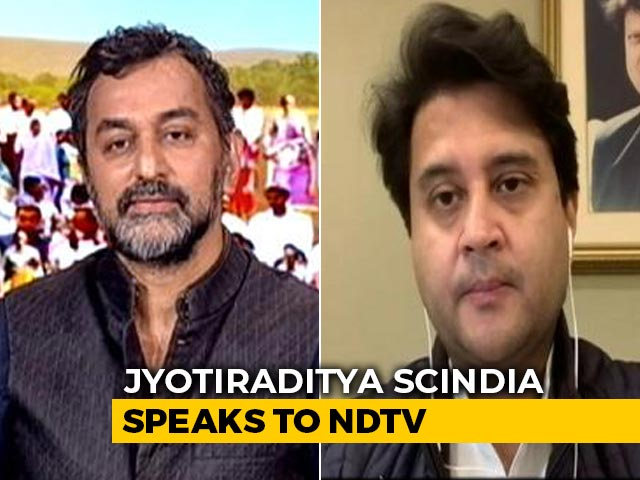 """Video : """"What's Wrong With Chanting '<i>Jai Shri</i> Ram'?"""": Jyotiraditya Scindia"""