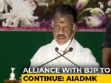 Video : Alliance With BJP To Continue, Says AIADMK As Amit Shah Visits Tamil Nadu