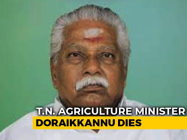 Video : Tamil Nadu Agriculture Minister Dies At 72, Weeks After He Tested Covid+