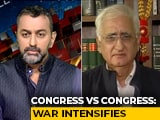 "Video : ""Won't Advertise View Across Globe"": Salman Khurshid's Barb At Kapil Sibal"