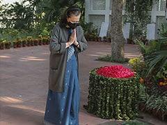 Sonia Gandhi Pays Tribute To Indira Gandhi On Her 103rd Birth Anniversary