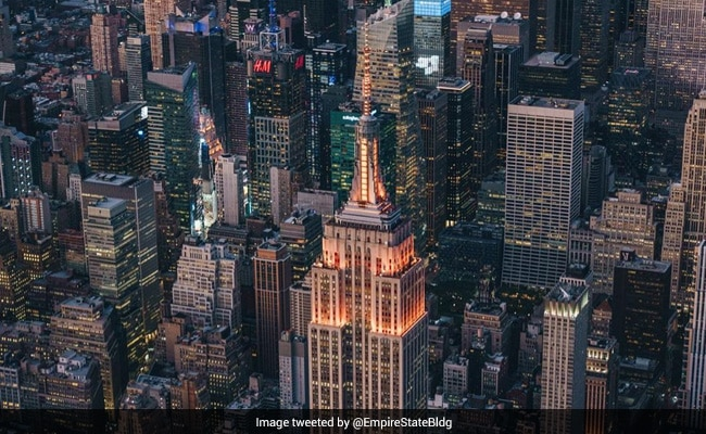 New York's Iconic Empire State Building Lit Orange To Have a good time Diwali