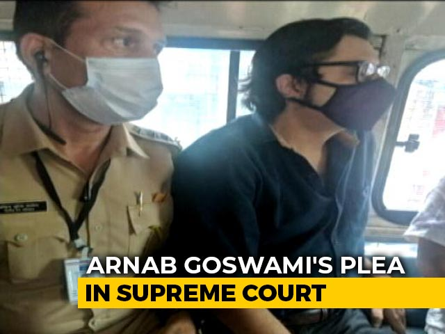 "Video : ""I Don't Watch His Channel But..."": Supreme Court On Arnab Goswami Bail"