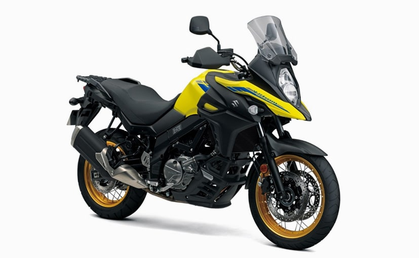 The 645 cc V-Twin motor on the Suzuki V-Strom 650 XT BS6 makes 70 bhp and 62 Nm