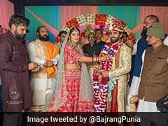 """Soulmate For Life"": Bajrang Punia Marries Sangeeta Phogat. See Pics"