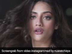 Nusrat Jahan ने बेहद ग्लैमरस लुक से जीता फैन्स का दिल, Video में दिखा जबरदस्त स्वैग