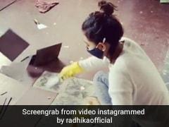 Radhika Apte ने एक के बाद एक उखाड़ डालीं घर के फ्लोर की सारी टाइल्स, देखें Video