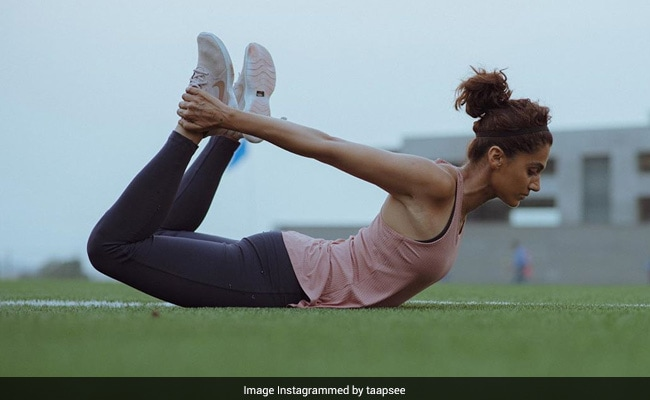 Another Bullseye Moment From Taapsee Pannu's Fitness Game. See Her Post