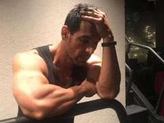 "John Abraham Is ""Smiling"" In This Post-Workout Pic. Look Carefully"