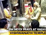 Video : Watch: PM Modi Prays At Kashi Vishwanath Temple In Varanasi On Dev Diwali