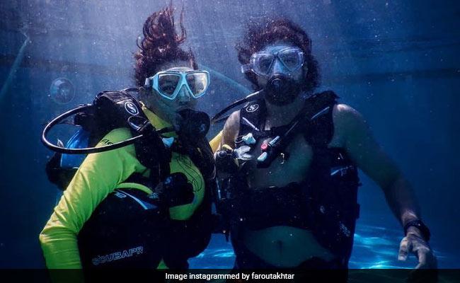 An Underwater Love Story, Featuring Scuba Divers Shibani Dandekar And Farhan Akhtar