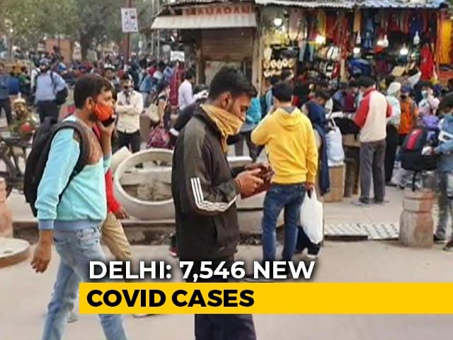 Video: Delhi Logs 7,546 Fresh Covid Cases, Fatalities Cross 8,000-Mark With 98 Deaths